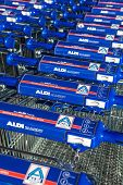 Aldi shopping trolleys
