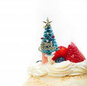 Christmas Tree On Crepe Pancake Cake