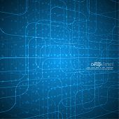 picture of grids  - Abstract vector background with glowing grid - JPG