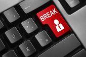Keyboard Red Button Break Employee