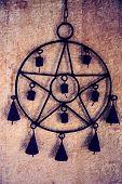 Pentagram with bells