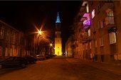 pic of evangelism  - The photo shows the Evangelical church tower located in Zagan in western Poland - JPG