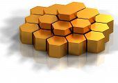 Hexagonal Background Concept Rendered