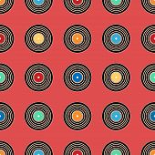 Colorful vinyl record, pattern background.