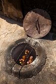 foto of furnace  - The kebab which is fried in the underground furnace the tandoor - JPG