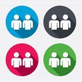 Friends sign icon. Social media symbol.