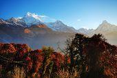 Himalyan Annapurna mountain range