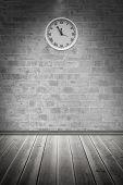 Clock against grey room