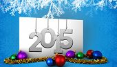 2015 against poster with baubles