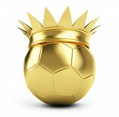 Gold Soccer Ball Crown