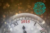 Elegant happy new year against dark abstract light spot design