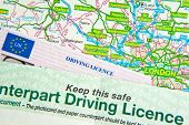 Driving License On Map