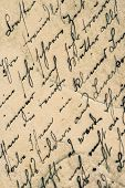 Vintage Handwriting. Grunge Aged Paper Background