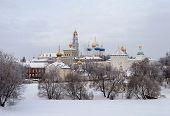 Sergiev Posad. Holy Trinity-sergius Lavra In Winter Time