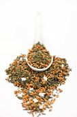 spoon of genmaicha (popcorn or brown rice tea)