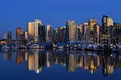 Vancouver City Skyline, at Dusk