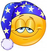 pic of ball cap  - Good night yellow ball with nightcap - JPG