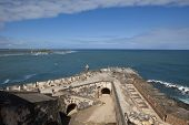overview of the fort at El Morro National Park, Puerto Rico
