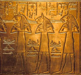 picture of hieroglyphic  - Egyptian hieroglyphics at the Tutankhamun - JPG