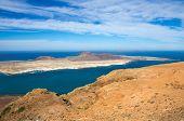 foto of canary-islands  - View of Graciosa Island from Mirador del Rio Lanzarote Island Canary Islands Spain - JPG