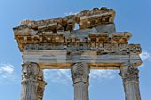 Detail of ancient ruins in Ephesus