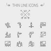 picture of money  - Business thin line icon set for web and mobile - JPG