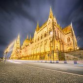 stock photo of hungarian  - View of hungarian Parliament building at Budapest - JPG