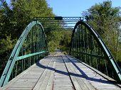 Footbridge Over Rough River
