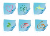 6 Stickers-reminders With Holidays