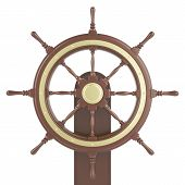 pic of wind wheel  - Ship wheel Isolated on white background - JPG