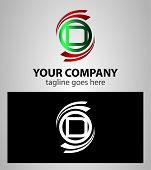 picture of letter d  - Letter D logo element icon set vector - JPG