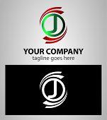 image of letter j  - Letter J Company logo icon template set - JPG