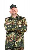 stock photo of vest  - Man in military vest - JPG
