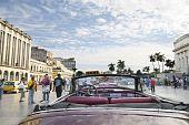 Old Vintage American Car. Havana : Dec 30Th, 2009.