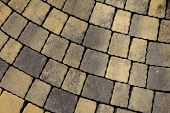 image of paving  - Tiled pavement texture background - JPG