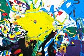 stock photo of paint spray  - Abstract acrylic modern painting fragment - JPG