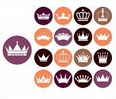 foto of crown jewels  - Crowns vintage set - JPG