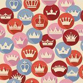 foto of crown jewels  - Seamless crowns pattern - JPG
