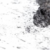 pic of charcoal  - Grungy texture painted black charcoal pencil - JPG
