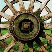 Antique Country Wagon Wheel