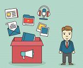 image of customer relationship management  - Customer contacts of electronic customer relationship management - JPG