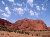 foto of uluru-kata tjuta national park  - kata tjuta also know as the olgas australia - JPG
