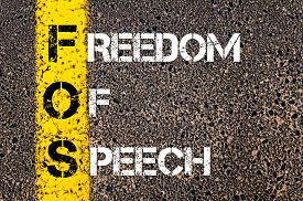 picture of freedom speech  - Acronym FOS as Freedom Of Speech.