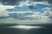 A Gap In Clouds Under The Sea