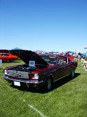 Dark Red American Muscle Car