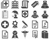 Medical bicolor icons poster