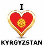 Heart Kyrgyzstan Flag