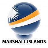 Bandeira de Ilhas Marshall Orb
