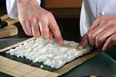 Vorbereitung von Sushi Chef