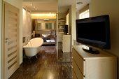 Bathroom in a luxury apartment.
